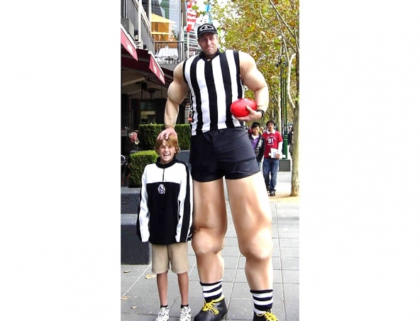 Giant Football Player